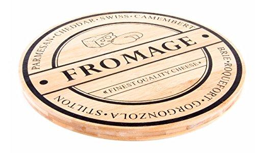 Käseschneidbrett Käsebrett Bambus, Ø 28 cm