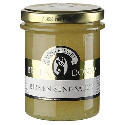 Hellriegel Birnen-Senf-Sauce, nach Tessiner Art, 250g. I Sparset mit Lacross-Schreibblock